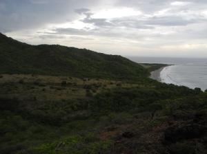 Looking back onto Playa Colorada.