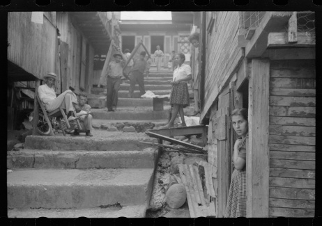 A street in the slum area of the hill town of Lares, Puerto Rico, 1941 January, J. Delano, Library of Congress